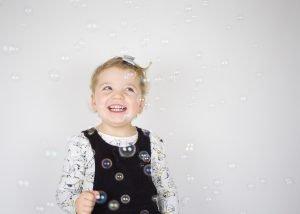 kids portrait with bubbles | photography